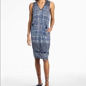 Lucky Brand Blue Batik Printed Dress